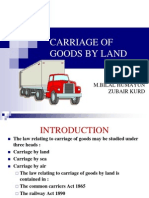 Final Carriage of Goods by Land