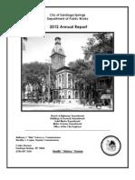 2012 DPW Annual Report