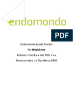 Endomondo User Guide for Blackberry