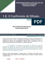 Aula 5. O Coeficiente de Difusão