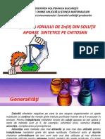 REŢINEREA IONULUI DE Zn(II) DIN SOLUŢII APOASE  SINTETICE PE CHITOSAN