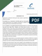 Comunicado 001 Consevadores Por Santander