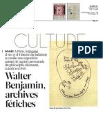 Walter Benjamin, archives fétiches