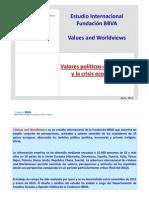 Estudio Internacional Valores políticos‐económicos y la crisis económica 2013 (Fundación BBVA - Values and Worldviews)