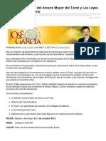 Josengarcia.com-Taller Los Secretos Del Arcano Mayor Del Tarot y Las Leyes Bsicas Del Ocultismo