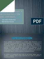 RESOLUCIÓN GRÁFICA DE PROBLEMAS CON DOS VARIABLES