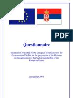 Upitnik EU Komisije Srbiji