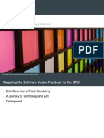 GPUs in a Flash - Mapping the Flash Animated Software Vector Rendering Model to the GPU