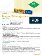 2013 ED Lingua Estrangeira
