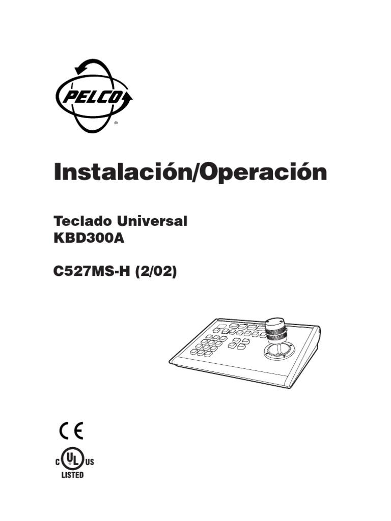 Manual Teclado Joystick Pelco Kbd300a Manual Bfioptilas[1