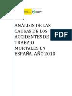 ANALISIS  CAUSAS  AATT MORTALES  ESPAÑA