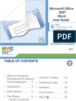 Microsoft Word 2007 Users Manual