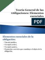 Sesión 03 Teoría General de las Obligaciones Elementos esenciales