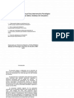 Manual para intervención psicológica con niños victimas de desastres