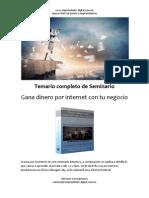 Temario Completo Seminario Gana Dinero Con Tu Negocio Por Internet Abril FINAL