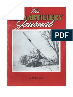Field Artillery Journal Jan 1946 Artillery Radar