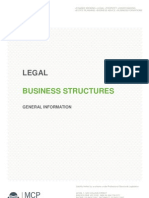 Legal Business Structure Overview