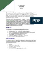 C Language(Synopsis)
