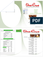 One Love Cuisine Brochure (Draft)