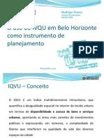 RODRIGO NUNES_O Uso Do IVQU Em Belo Horizonte Como