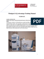 Finnigan LCQ -Training Manual