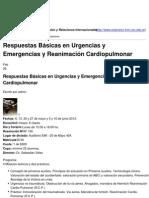 Urgencias y Emergencias y Reanimación Cardiopulmonar - 2013-03-11