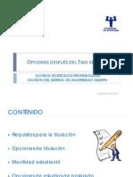UNAM -Opciones después del séptimo semestre