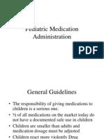 Pediatric Drug Administration