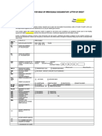 Import LC Application