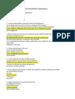Cuestionario de Textos Politicos y Sociales II
