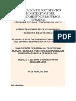 Elaboracion de Documentos Administrativos Del Departamento de Recursos Humanos
