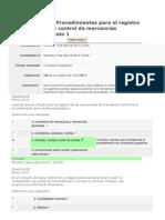 Autoevaluación 2 Procedimientos para el registro de operaciones y control de mercancías