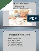 Functional Behavioral Assessment PP
