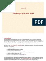 Lecture08 - Design of Concrete Deck Slabs