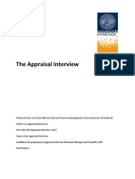 How an Appraisal-Interview Work