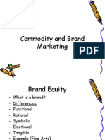 Commodity and Branding