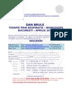 Terapie prin Respiratie Constienta - Formular de Inscriere Aprilie 2013