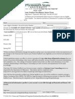 Graduate Enrollment Form