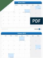 Calendario Del Mes-2012