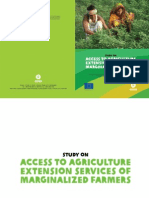 Study on Access to Agriculture Extension Services of Marginalized Farmers