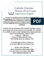 4-17-13 Catholic Charities Legal Services Program Presentation