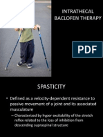 Intratechal Baclofen Therapy