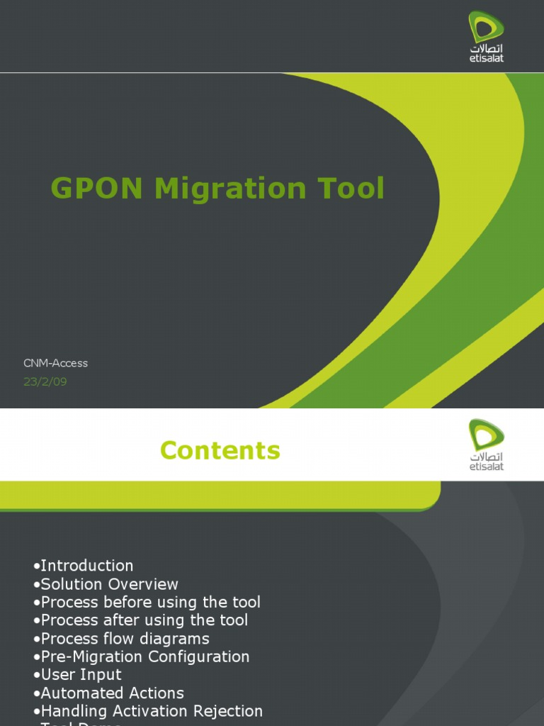 Gpon Migration Tool Provisioning Automation For Process Flow Diagram