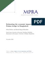 Economic Analysis of Padma Bridge