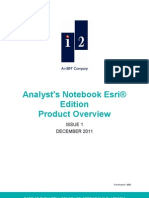 Analyst's Notebook Esri Edition Product Overview Issue 1