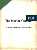 OGL Compliant Master Yeoman Prestige Class