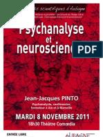 """Affiche de la conférence """"Psychanalyse et Neurosciences"""""""
