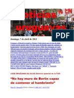 Noticias Uruguayas Domingo 7 de Abril Del 2013