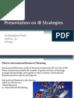 Presentation on IB Strategies 2