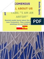 Spanish Pupils and Polish Artist Leon Tarasewicz